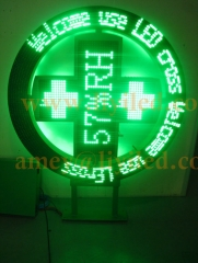 LED pharmacy cross 1200 single color P16 round