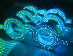 LED glass sign,led optical sign with arms
