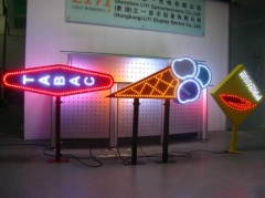 led ice cream sign and led presse sign