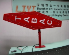 led tabac sign right-angle